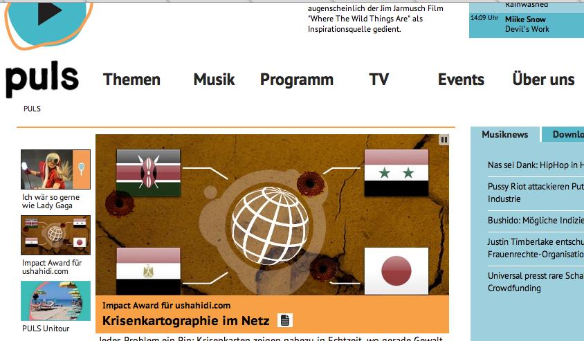 Puls-Homepage: konsequent trimedial ausgerichtet.