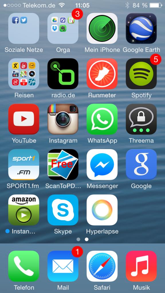 Auf diesem Screen versteckt sich viermal Facebook... (Foto: Jakubetz)