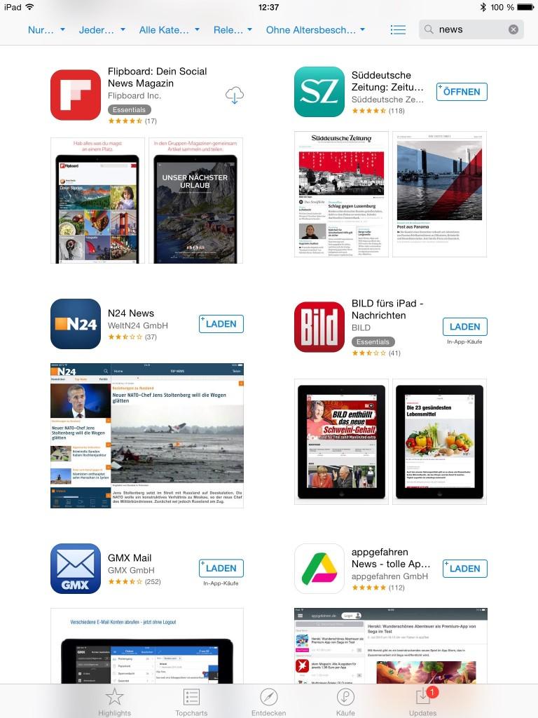 Social Media vs. News-Apps: Die einen sind populär, die anderen werden loyal geschätzt.
