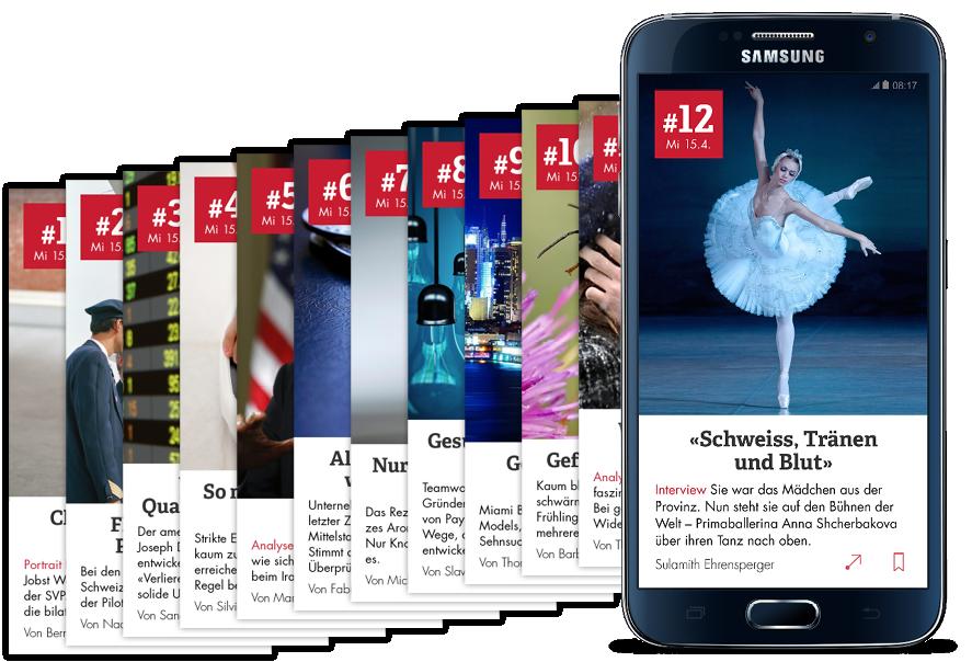 """All in one: Tamedia bietet jetzt eine Art """"Best of"""" aus allen Verlags-Publikationen in einer App an."""