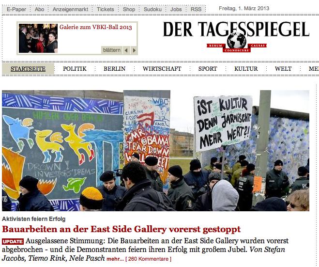 """Einer der wenigen Gewinner im Dezember 2012: der """"Tagesspiegel""""."""